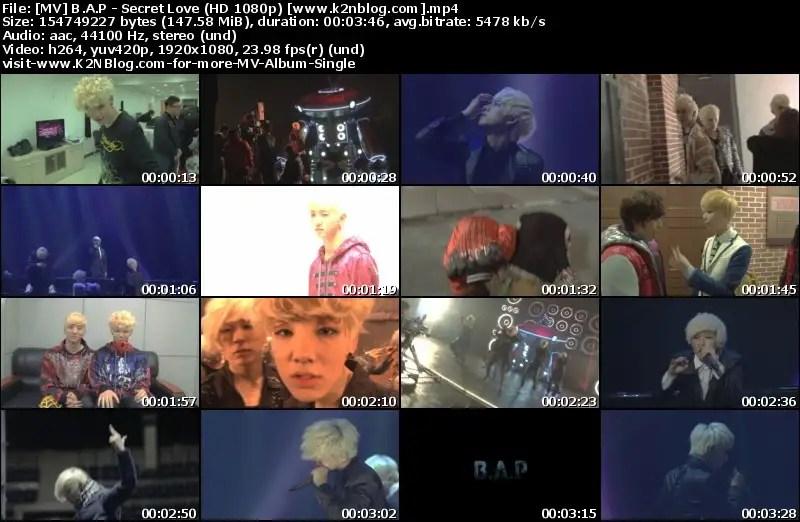 MV] B A P – Secret Love (HD 1080p Youtube) | Purple of Sona