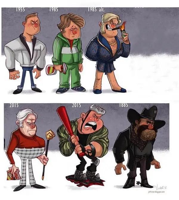 evolucion008 - Evolución de los famosos por Jeff Victor