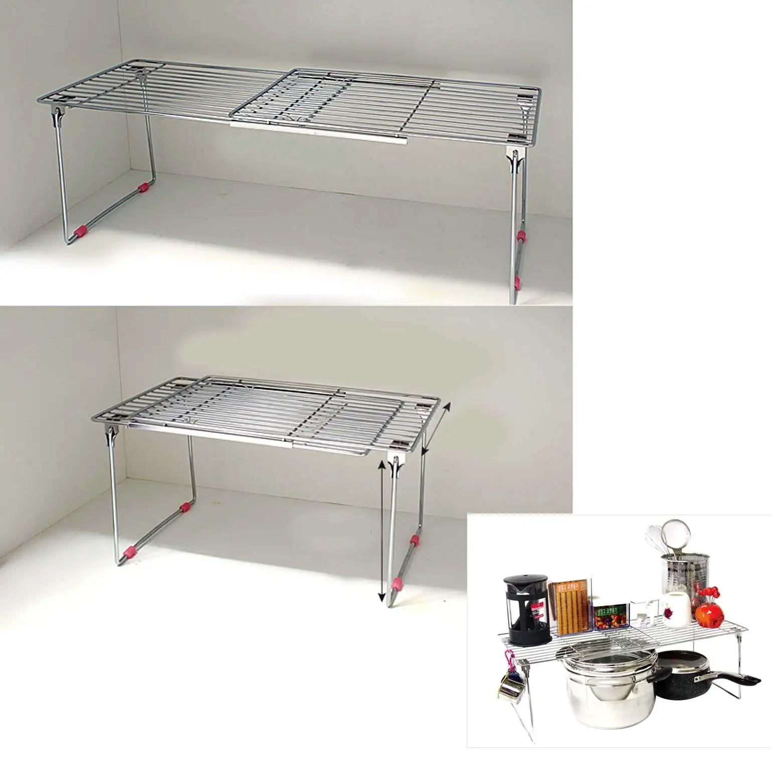 under cabinet shelving kitchen kids kraft new stainless extendable sink organizer storage