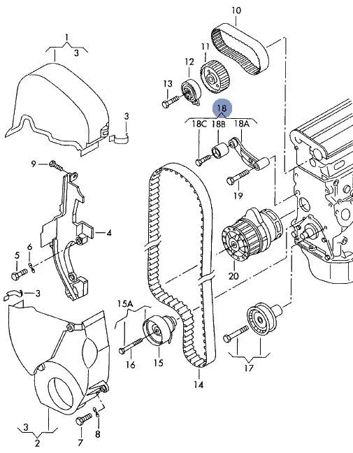 AUDI A2 VW GOLF POLO IBIZA FABIA 1.4 CAMBELT RELAY ROLLER