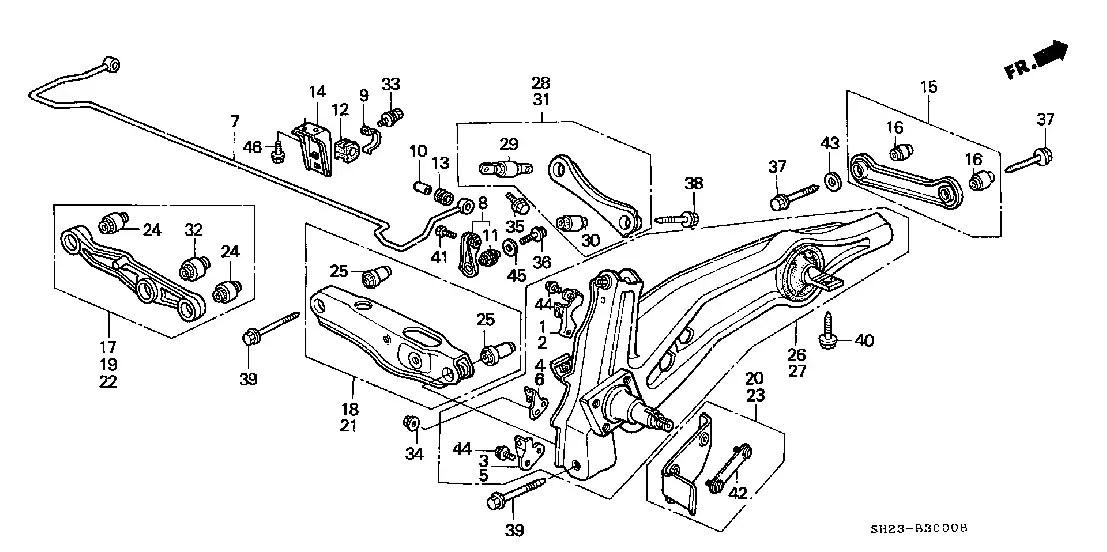 Wiring Site Resource: Honda Civic Rear Suspension Diagram