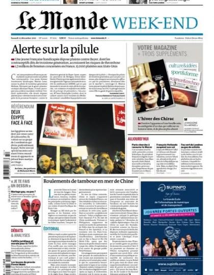 Le Monde et Suppléments Samedi 15 Décembre 2012