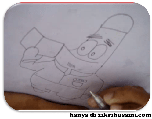 patrick, patrick the spongebob, patrick character, patrick berkopiah, mr patrick, patrick di tv9, mari melukis mr patrick, cara melukis, cara melukis encik patrick