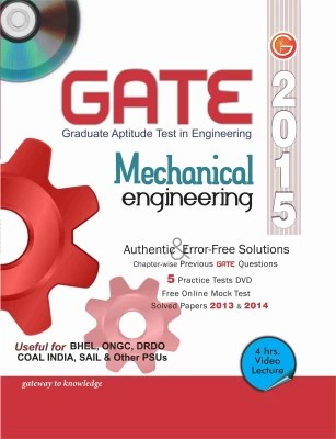 Buy GATE 2015 - Mechanical Engineering (With DVD) 12th Edition: Book