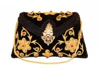 Ruhmet Women Casual, Party, Wedding Black Metal, Velvet  Clutch