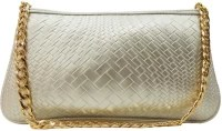Madame Exclusive Casual, Festive, Formal, Party Silver Artificial Leather  Clutch