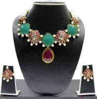 Zaveri Pearls Designer Kundan Alloy Jewel Set: Jewellery Set