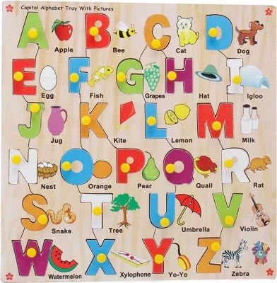 Skillofun Capital Alphabet Tray With Picture Best Deals
