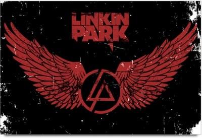 53 off on linkin park grunge logo poster paper print on flipkart paisawapas com