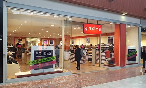 magasin de chaussures andre a velizy