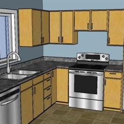 Complete Kitchen Unfinished Cabinet 一个完整的厨房设计su模型 完整的厨房