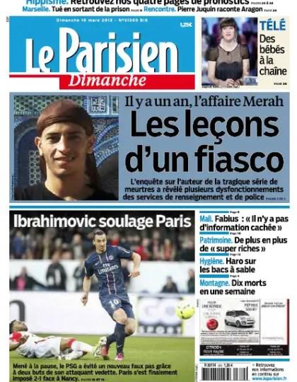 Le Parisien Dimanche 10 Mars 2013