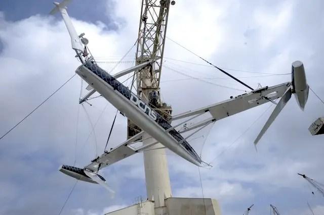 hidro6 - L'Hydroptère: el velero más rápido del mundo no surca el mar sino vuela