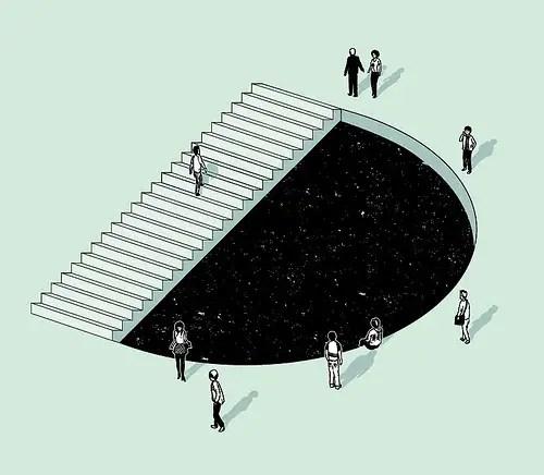 escalera escher