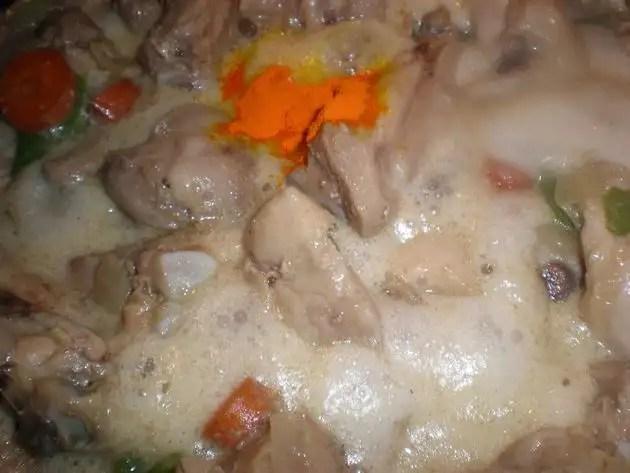 Elaborando pollo a la vinagreta