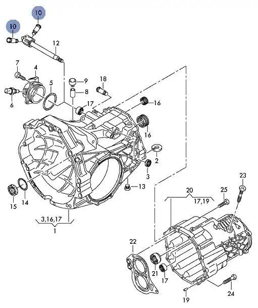 VW PASSAT 6 SPEED GHA HEN HSL MANUAL GEARBOX LOCKING