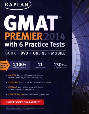 Buy GMAT Premier 2014 with 6 Practice Tests (Book + DVD + Online + Mobile): Book