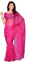 Diva Fashion Printed Jacquard Sari: Sari