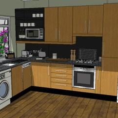 Complete Kitchen Antique Table 现代详细完整的厨房su模型 原创
