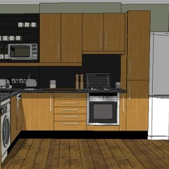 Complete Kitchen Fat Burning Book 现代详细完整的厨房su模型 原创