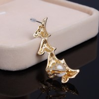 Fashion Shark Tooth Shaped Design Gold Metal Earring ...