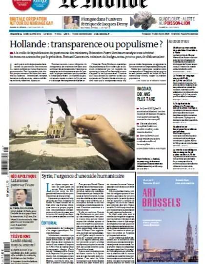 Le Monde - Dimanche 14 et Lundi 15 Avril 2013