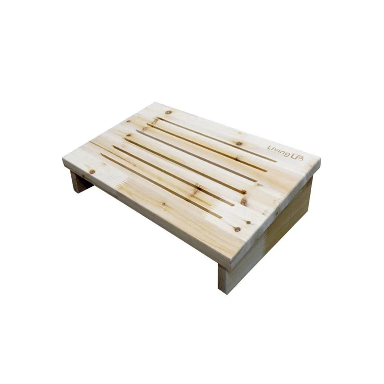 WellBeing Cedar Wooden Foot Rest Stool Footrest Bench Desk