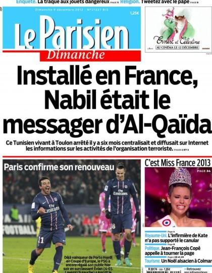 Le Parisien Dimanche 09 Décembre 2012