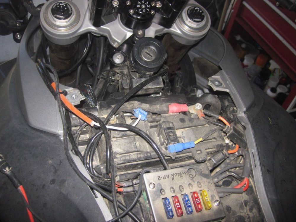 medium resolution of odyssey pc535 install in f800gs adventure rider bmw f800gs fuse box