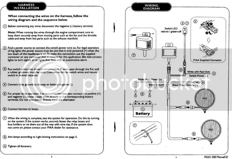 PIAA Installation Instruction & Diagram Xterra Owners Club