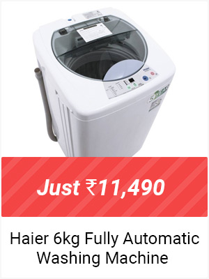 Haier 6 kg Fully Automatic Top Load Washing Machine - Just Rs.11,490 +Exchange-Upto Rs.3,000 off