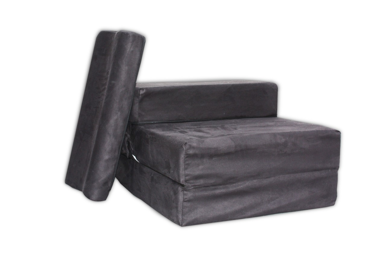 foam block sofa bed converts to bunk beds cost z fold out chair sleep over mattress ebay