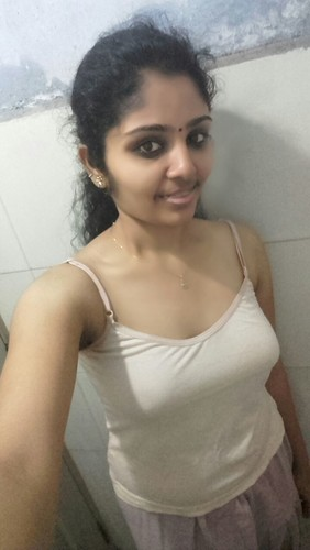 Tamil Girl Nude Selfies In Bathroom Showing Boobs-7035