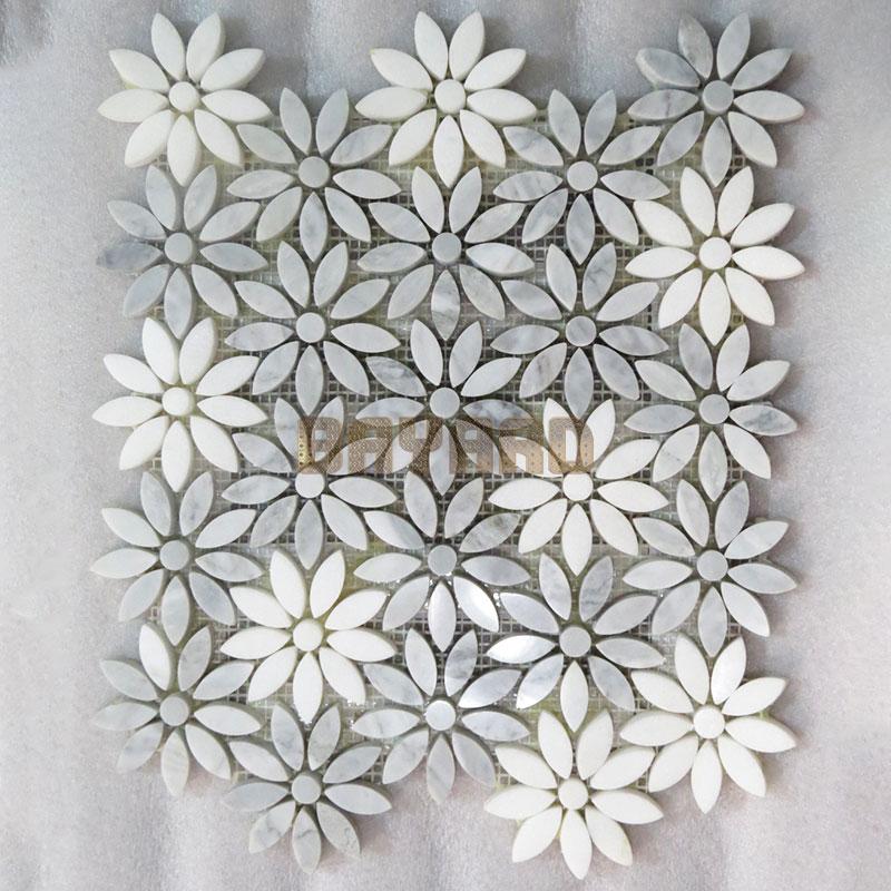 green mosaic wall tiles