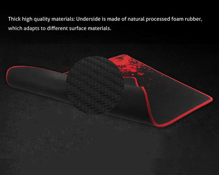 Thick high quality materials: Underside is made of natural processed foam rubber.which adapts to different surface materials.