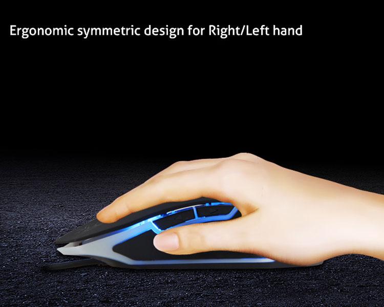 Ergonomic symmetric design for Right/Left hand