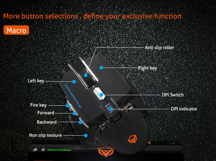wired usb gaming mouse