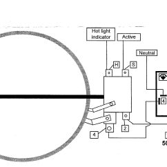 Electric Cooker Switch Wiring Diagram 2007 Jeep Wrangler Parts Ego 180mm 1800watt Single Ceran Top Hilight Hotplate