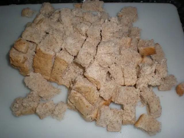 Pan de molde integral en daditos