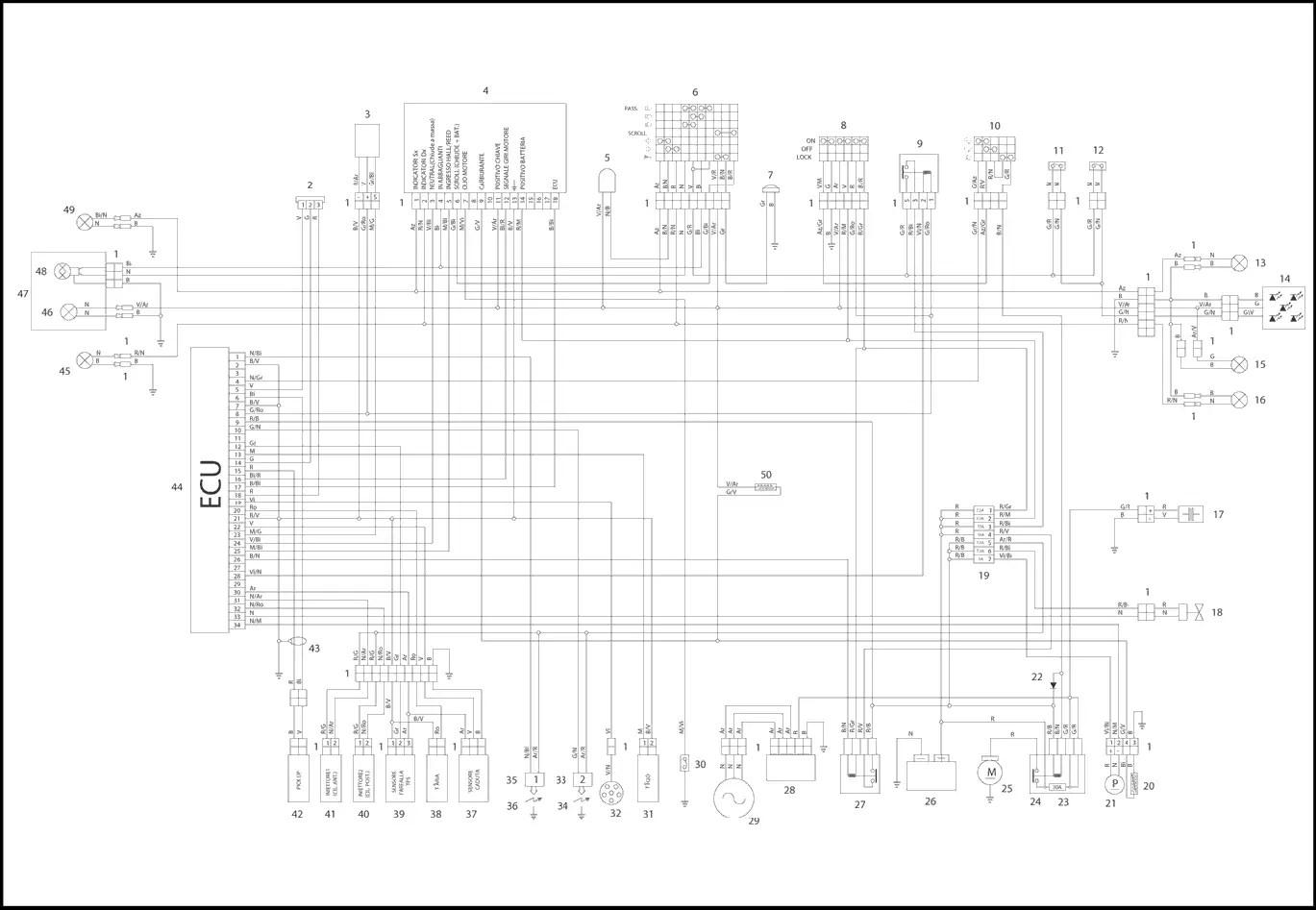 [29+] Elektrischer Schaltplan Aprilia Sx 50