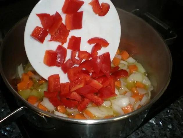 Sofrito para ternera en salsa