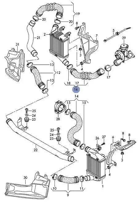 GENUINE AUDI A6 C6 2.0TDI LOWER TURBO INTERCOOLER PRESSURE