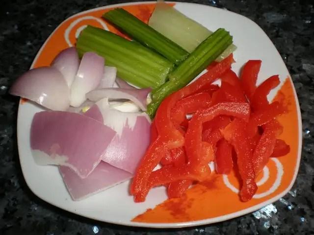 Verduras limpias