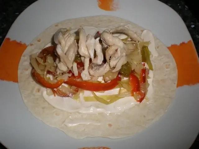 Fajitas de pollo y verdura
