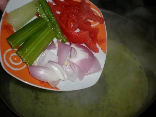 Meter las verduras
