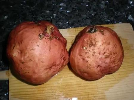 Batatas rojas enteras