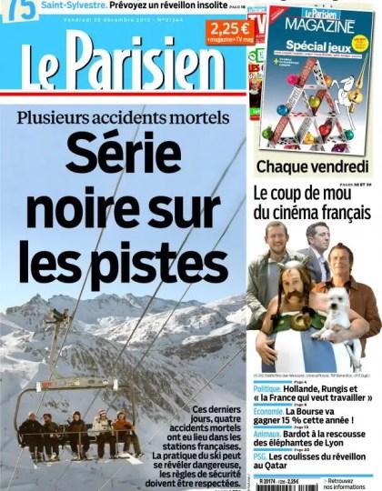 Le Parisien Vendredi 28 Décembre 2012