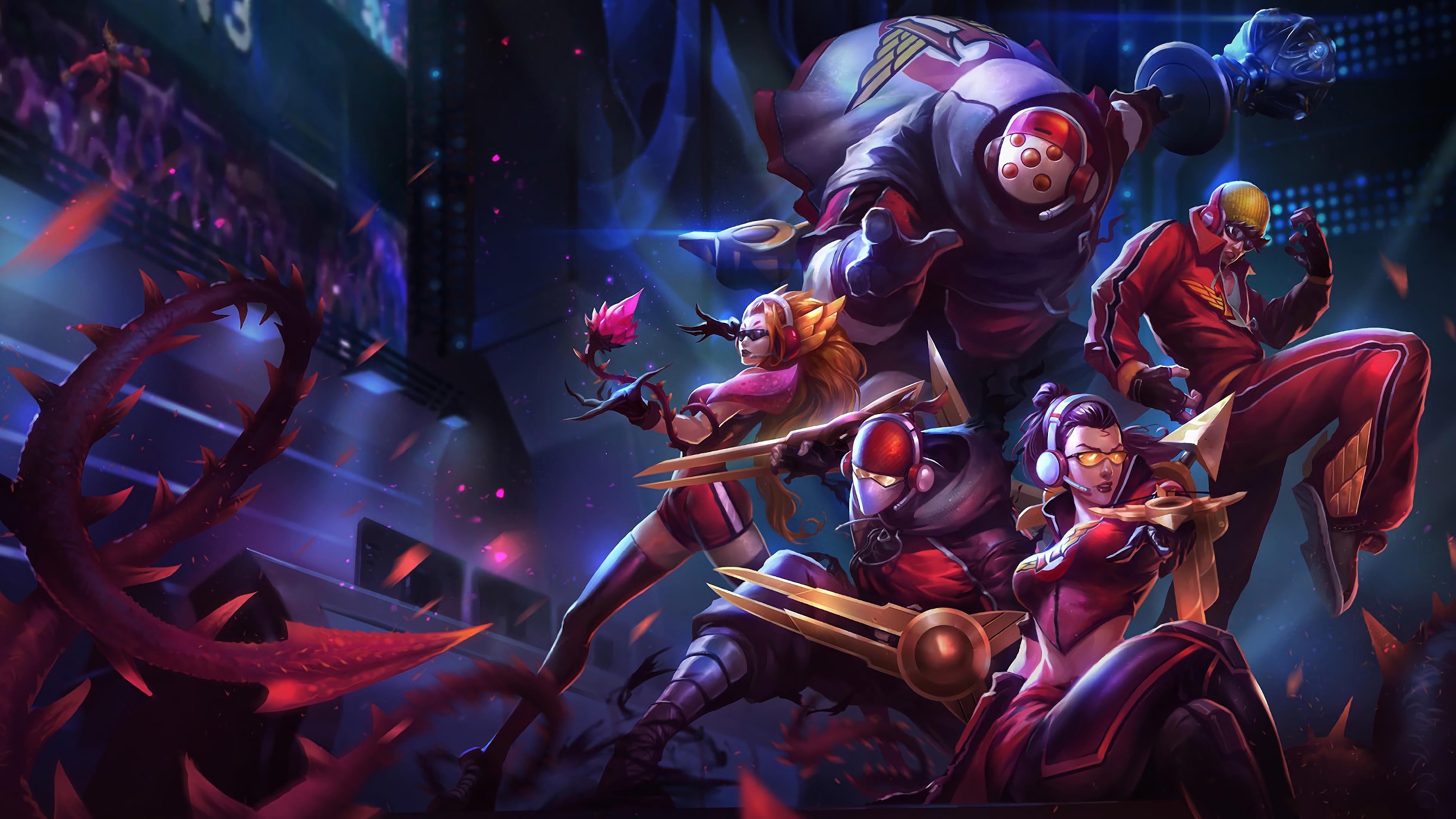 League Of Legends Wallpaper Hd Skt T1 Zed Vayne Zyra Lee Sin Jax Lol Splash Art League Of