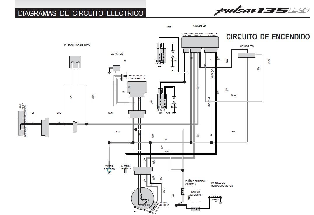 bajaj pulsar 135 wiring diagram