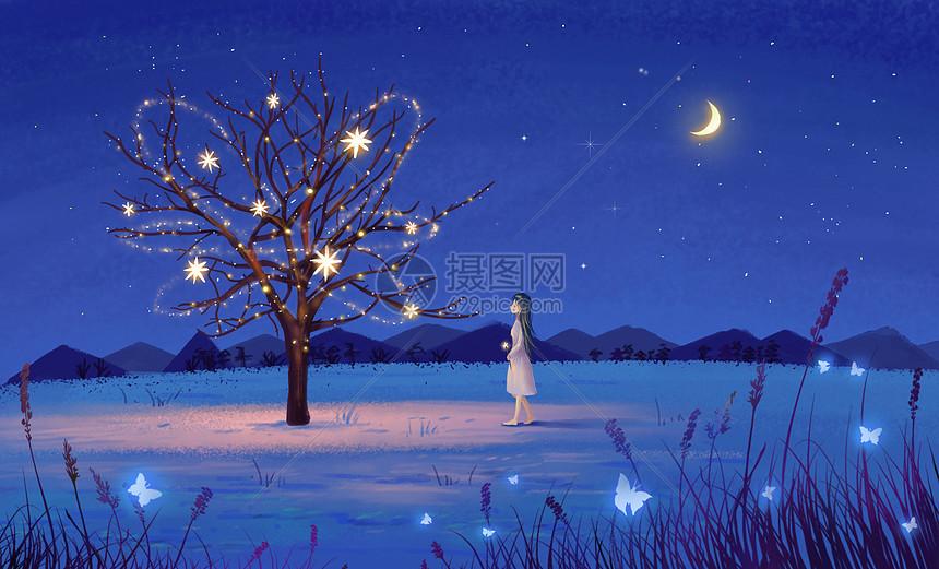 Trippy Wallpaper Hd 梦幻夜景插画图片下载 正版图片400085445 摄图网